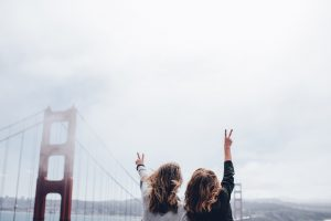 golden gate peace signs